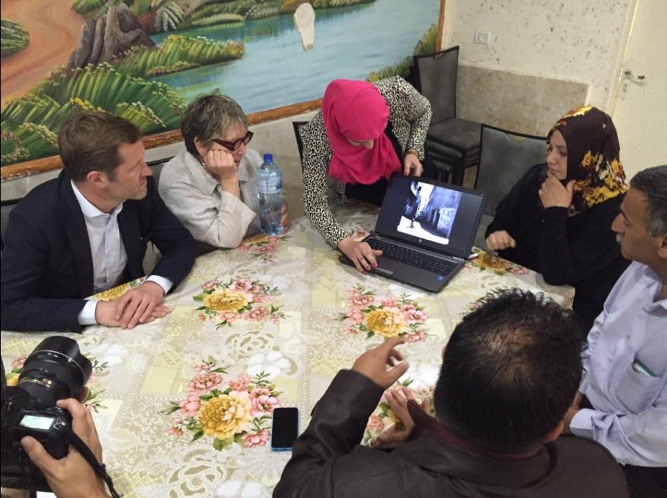 Rencontre avec l'association des mères d'enfants handicapés du camps de réfugiés d'Aida
