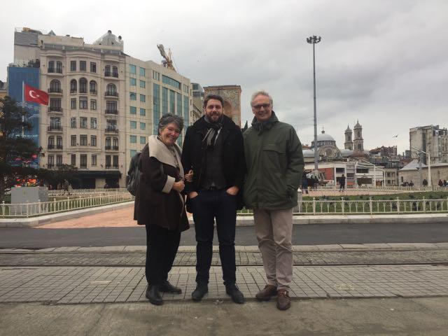 Avec mes collègues du Parlement bruxellois, Fabian Maingain et André du Bus