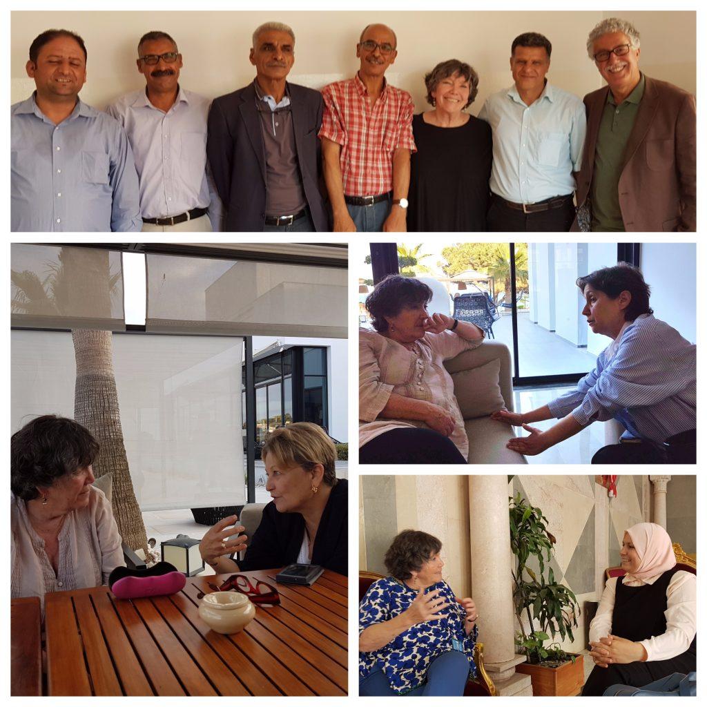 Rencontres avec Hamma Hammami et le Parti des Travailleurs, Sana Ben Achour (Association Tunisienne des Femmes Démocrates), Maya Jribi (ex-Secrétaire Générale du parti républicain Al Joumhouri) et Latifa Habbechi (députée Ennahda)